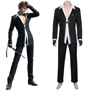 Final Fantasy VII Remake-Reno Halloween Carnival Costume Cosplay Costume Men Jacket Pants Outfit