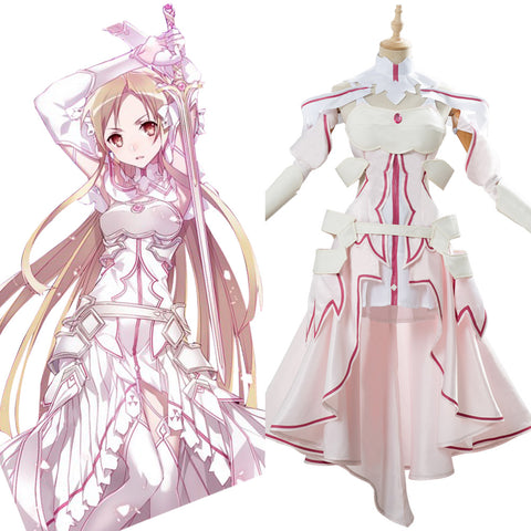 SAO Sword Art Online Yuuki Asuna Alicization Cosplay Costume