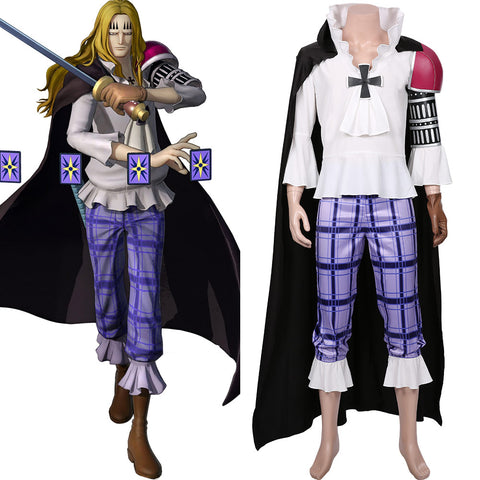 One Piece:Pirate Warriors 4 Basil Hawkins Cosplay Costume Halloween Carnival Costume