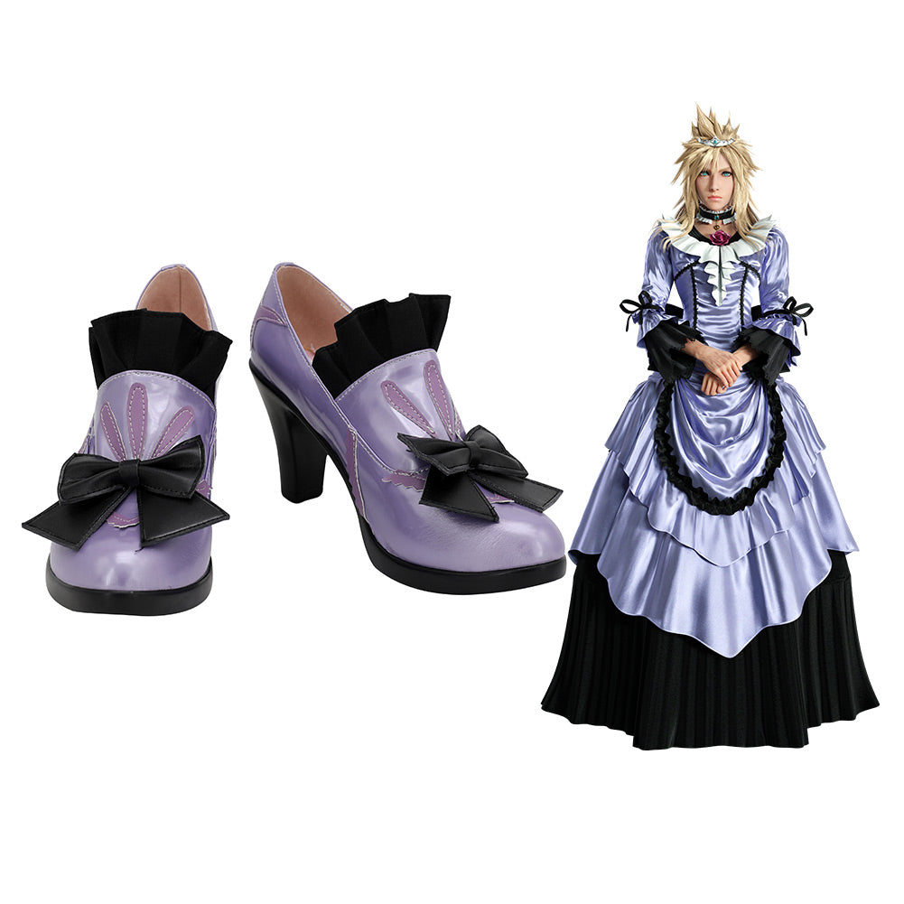 Final Fantasy VII Remake Cloud Strife Boots Cosplay Shoes Halloween Costumes Accessory