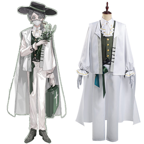Identity V Halloween Carnival Outfit Embalmer Aesop Carl Cosplay Costume Shirt Pants Suit