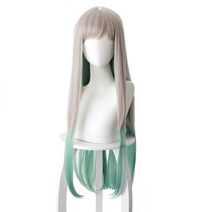 Jibaku Shounen Hanako-kun Yashiro Nene Silver Gray Gradient Green Long Hair Cosplay Wig