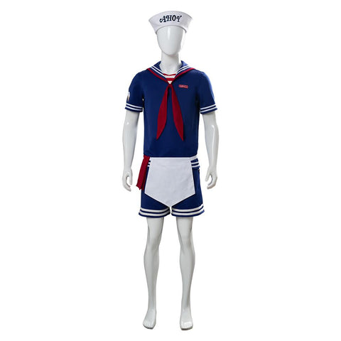 Stranger Things 3 Scoops Ahoy Steve Harrington Cosplay Costume