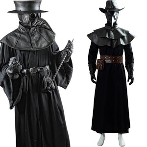 Plague Doctor Bird Mask Cape Long Grown Hat Set Holloween Costume Steampunk Outfit Cosplay Costume
