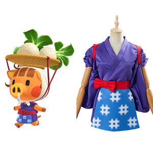 Game Animal Crossing Halloween Carnival Costume Daisy Mae Women Kimono Outfit Cosplay Costume