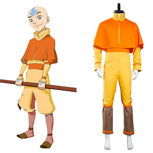 Avatar: The Last Airbender Halloween Carnival Suit Avatar Aang Cosplay Costume Jumpsuit Outfit