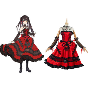 Anime Date A Bullet Tokisaki Kurumi Cosplay Costume Women Girls Dress Outfit Halloween Carnival Costume