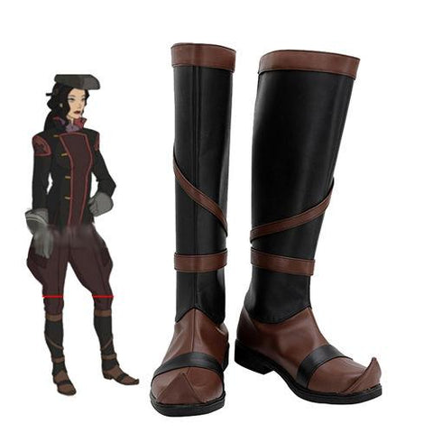 Avatar The Legend of Korra Asami Sato Costume Props Cosplay Shoes