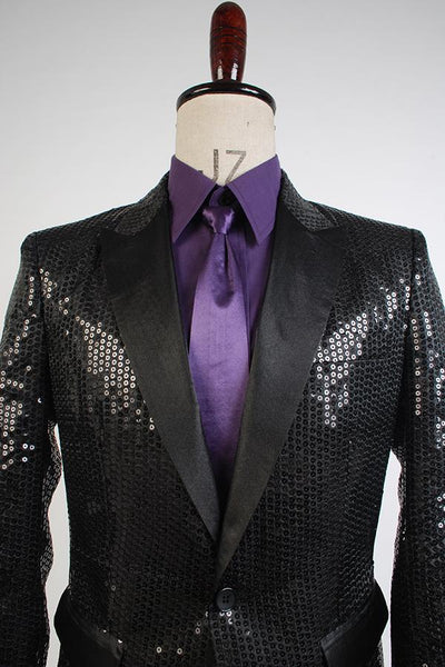 Daft Punk Sparking Black Sequin Performance Outfits Robot Cosplay Costume Purple Version