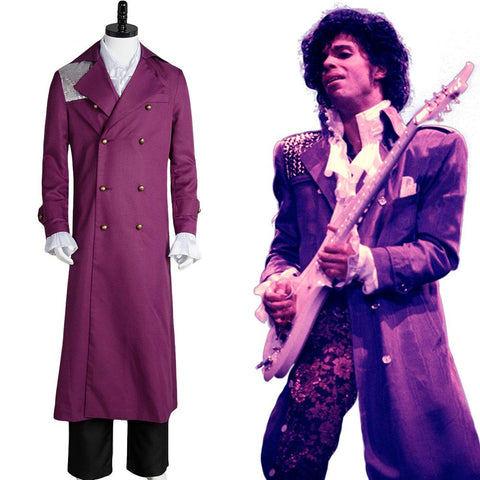 Prince Rogers Nelson in Purple Rain Coat Costume Cosplay