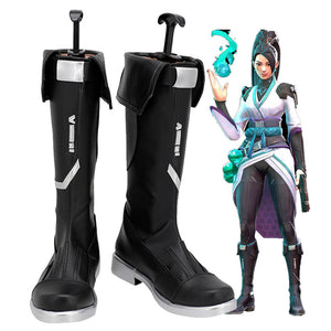 Game Valorant Sage Cosplay Shoes Halloween Costumes Accessory Boots Custom Made