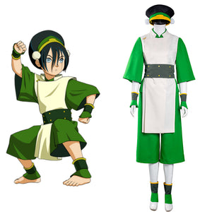Avatar: The Last Airbender Halloween Carnival Suit Toph bengfang Cosplay Costume Vest Pants Outfits