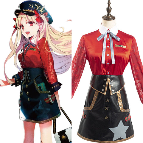 Game FGO Fate Grand Order Halloween Carnival Suit Ereshkigal Cosplay Costume Costume Women Red Shirt Skirt Outfits
