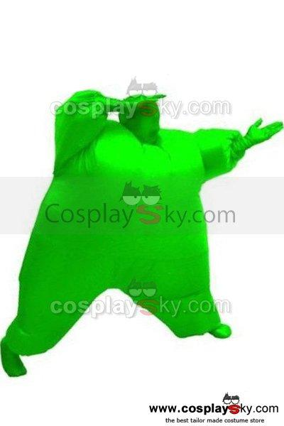 Adult Size Inflatable Costume Full Body Jumpsuit Green Version