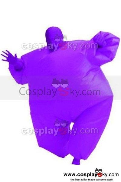 Adult Size Inflatable Costume Full Body Jumpsuit Purple Version