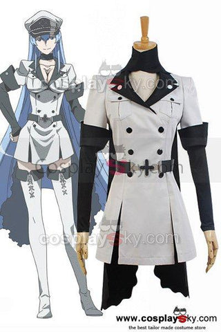 Akame ga KILL! Esdeath Empire General Apparel Uniform Outfit Cosplay Costume