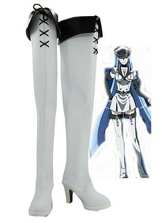 Akame ga KILL! Esdeath Empire General Boots Cosplay Shoes