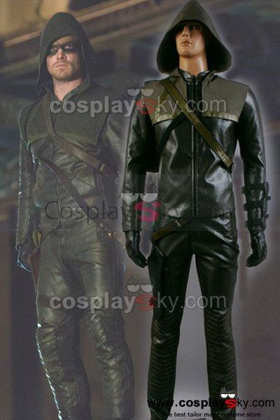 Arrow Oliver Queen Green Arrow Man Cosplay Costume