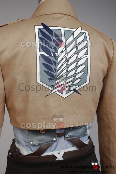 Attack on Titan Scouting Legion Rivaille Cosplay Costume+Wig+Shoes
