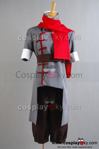 Avatar The Legend of Korra Mako Cosplay Costume Grey Version