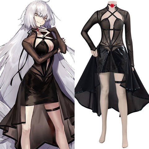 Game Fate/Grand Order Halloween Carnival Costume Jeanne d'Arc Alter (J'Alter) Cosplay Costume Women Girls Outfit
