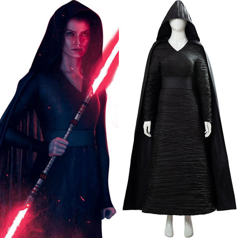 Star Wars: The Rise of Skywalker Dark Side Rey Cosplay Costume