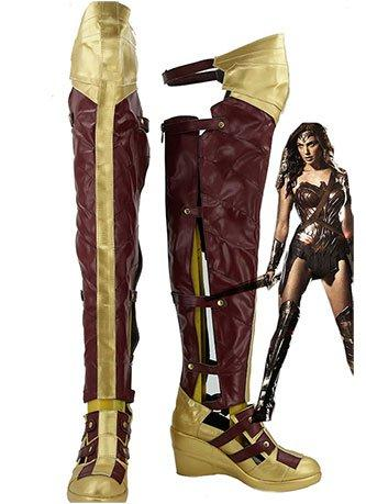 Batman v Superman:Dawn of Justice Wonder Woman Cosplay Shoes