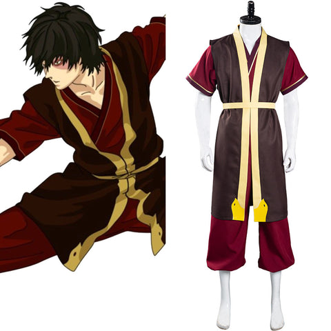 Avatar: The Last Airbender Halloween Carnival Suit Zuko Cosplay Costume Pants Vest Outfit