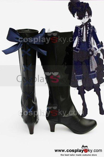 Black Butler Grell Cosplay Boots Shoes New