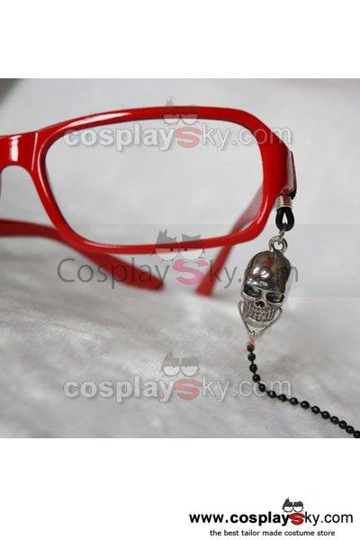 Black Butler Grell Sutcliff Glasses Frame and Chains