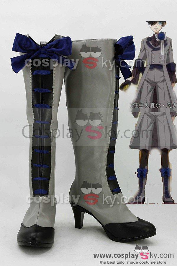 Black Butler 3 Earl Ciel Phantomhive Cosplay Boots Shoes