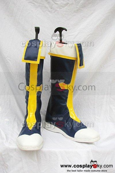 Blazblue Jin Kisaragi Cosplay Boots Shoes