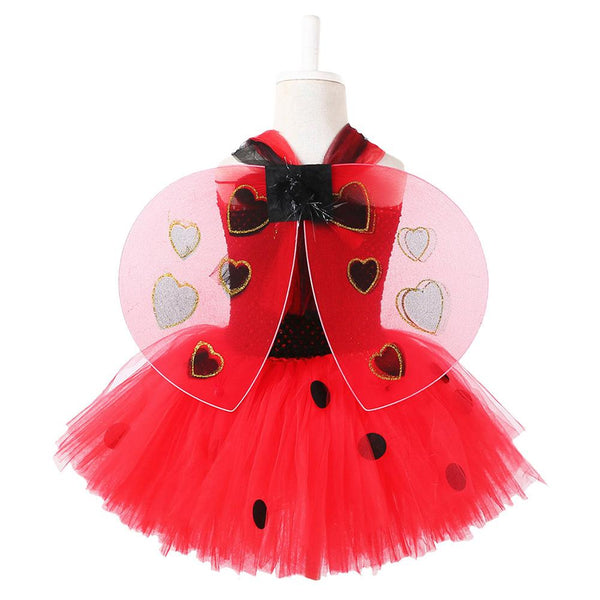 Miraculous Ladybug Bubble Dress Kids Toddlers Halloween Costume