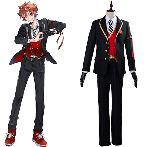 Twisted-Wonderland Halloween Carnival Costume Riddle/Trey/Deuce/Cater/Ace Uniform Outfit Cosplay Costume