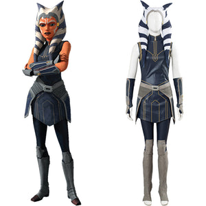 Star Wars: Clone Wars Season 7 Ahsoka Tano Women Girls Outfit Cosplay Costume Halloween Carnival Costume
