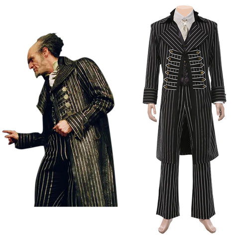 Lemony Snicket's A Series of Unfortunate Events Halloween Carnival Suit Count Olaf Cosplay Costume Men Coat Pants Outfits