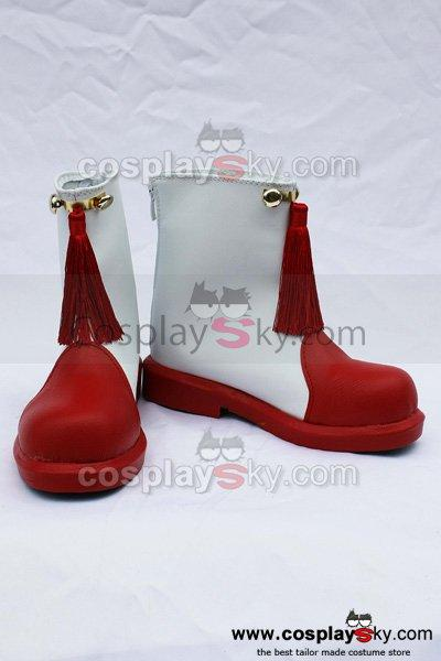 Card Captor Sakura Cosplay Shoes Boots Red