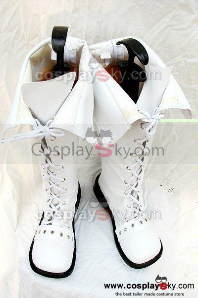 Classical White Boots Shoes Can be flipped Custom Made