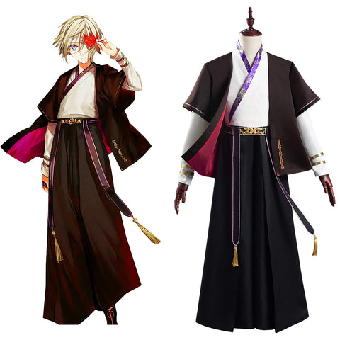 Fate/Grand Order FGO Halloween Carnival Suit Lang Lin Wang Cosplay Costume Hanfu Coat Pants Outfits