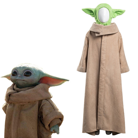 The Mandalorian Halloween Carnival Suit Baby Yoda Cosplay Costume Robe Hat Outfit