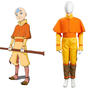 Avatar: The Last Airbender Avatar Halloween Carnival Suit Aang Cosplay Costume Kids Children Jumpsuit Outfits