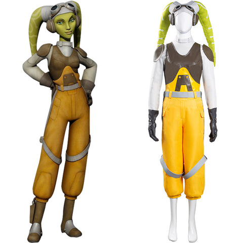 Star Wars Rebels Halloween Carnival Suit Hera Syndulla Cosplay Costume Women Vest Pants Outfit