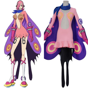 ONE PIECE Vinsmoke Family Combat suit Vinsmoke Reiju Halloween Carnival Outfit Cosplay Costume