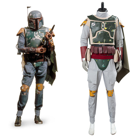 Star Wars Halloween Carnival Suit Boba Fett Cosplay Costume Men Uniform Outfit