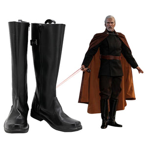 Star Wars Halloween Costumes Accessory Count Dooku Cosplay Shoes Boots
