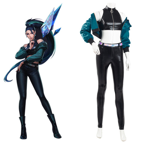 League of Legends LOL Halloween Carnival Suit KDA Kaisa Cosplay Costume K/DA Group Coat Pants Outfit