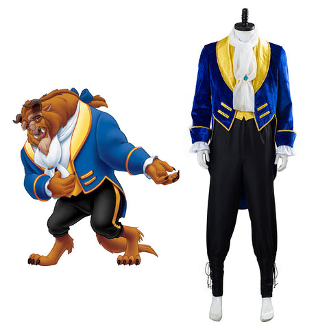 Prince Beast Beauty And The Beast Costume Cosplay Halloween Carnival Costume for Adult