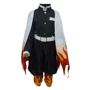 Demon Slayer Halloween Carnival Suit Rengoku Kyoujurou Cosplay Costume Kids Children Outfit