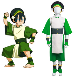 Avatar: The Last Airbender Halloween Carnival Suit Toph bengfang Cosplay Costume Kids Children Vest Pants Outfit