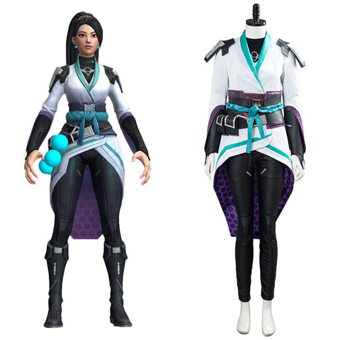 Game Valorant Sage Cosplay Costume Halloween Carnival Uniform